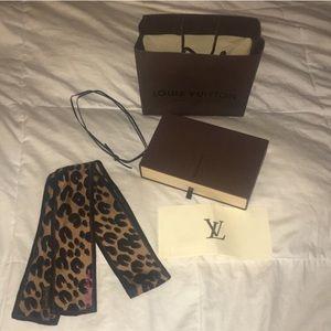 Authentic leopard print silk scarf